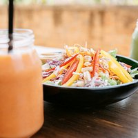 Tropical Carrot Smoothie, Asian Chopped Salad, Pineapple Kale Smoothie