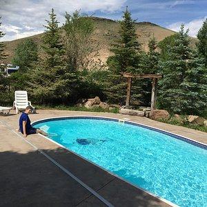 Enjoying the pool at Blue Mesa Ranch
