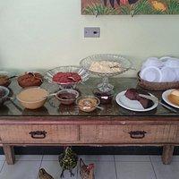 Sobremesas variadas, doces caseiros e deliciosos