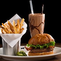 Burger, Fries, and a Shake. What could be better?