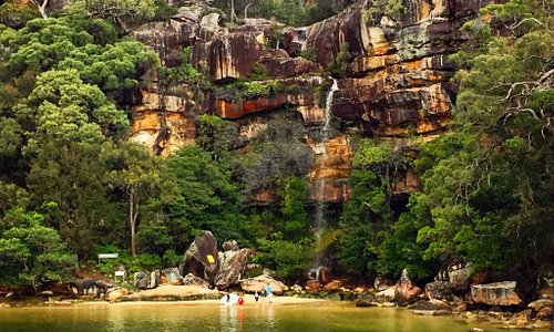 A lovely nook along the Hawkesbury River with a beautiful waterfall. The view from the back of t