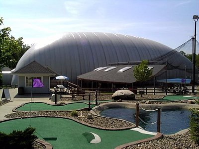 18-hole miniature golf course, 6 baseball/softball batting cages and indoor golf driving range