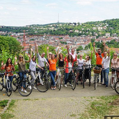 Stuttgart by Bike City Tour with view over the city (and happy visitors from the Netherlandds))