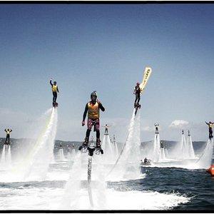 Quelques photos d'initiations et du record du monde de Flyboard ou nous avons participé.