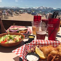 Beer battered haddock and sidewinder hand cut fries