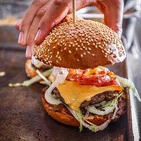 Delicious Burger in preparation