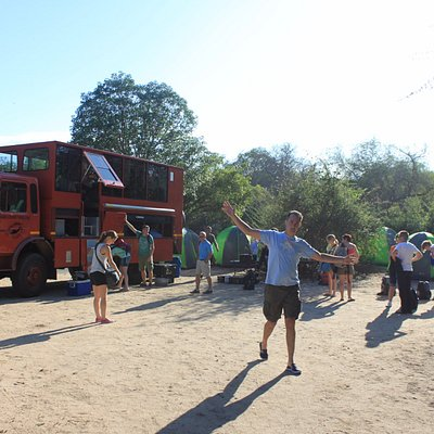 Camping in the middle of Kruger Park