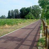 Un tratto della pista ciclo-pedonale