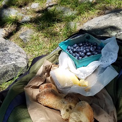 The wonderful food that we got for a picnic lunch