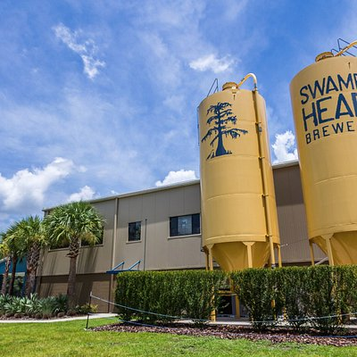 The iconic Swamp Head silos located right outside our brewery.