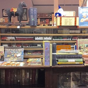 See the toy size circus train in the Children's Book section at Rivertown Fine Books