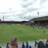 Traditional Rugby League stadium.