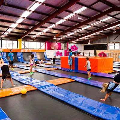 Over 1000 square meters of connected trampolines for maximum bounce!