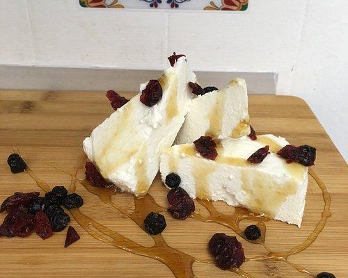 Feta cheese tasting, wooden barrel matured feta, cheese shop, authentic feta