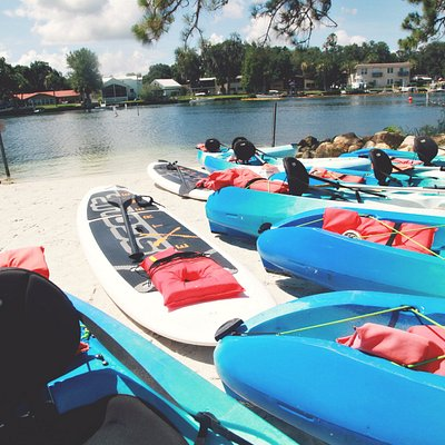 Kayaks and Paddle Boards at Hunter Springs Kayaks