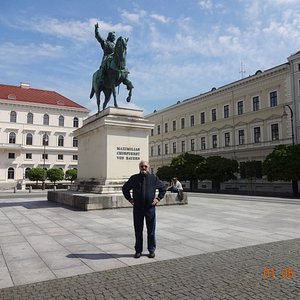 Estatua ecuestre de Maximiliano I de Baviera.