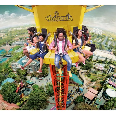 Flash tower is a shoot up and drop down tower over 40 meters tall.