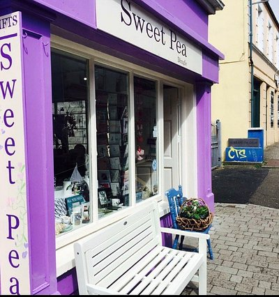 Sweet Pea Gift shop...look for the purple building to find unique and wonderful gifts.