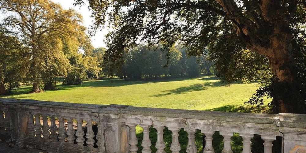 Vista del parco dalla balconata della Sala Diplomatica