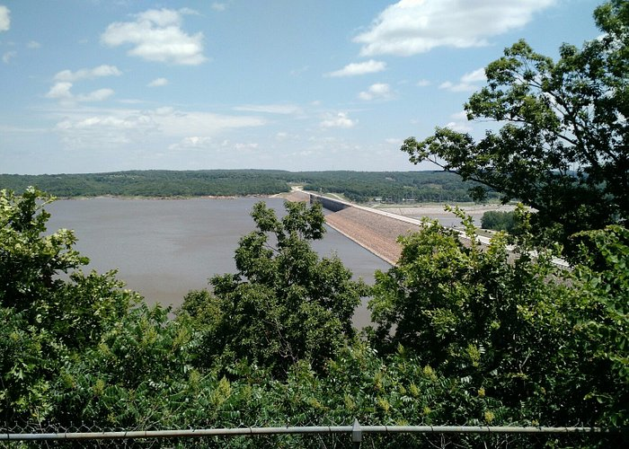 Looking north from the overlook area south of the dam on the right hand side of the road.