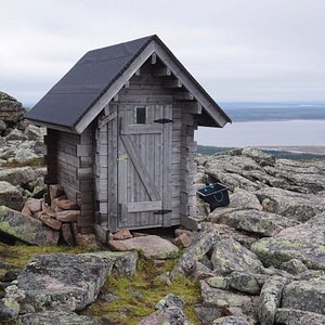 An outhouse with a view
