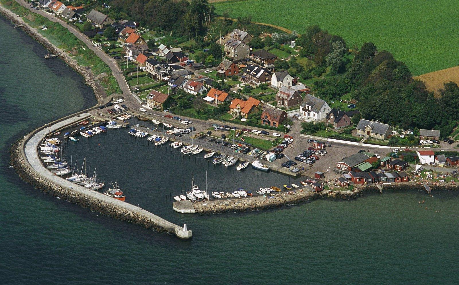 Ålabodarna från ovan. Foto: Perry Nordeng, Landskrona stad.