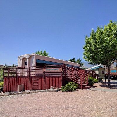 At Railroad Depot