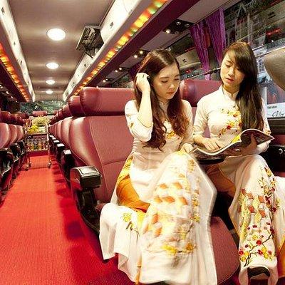 Express Bus inside view
