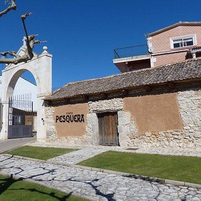 The entrance of Bodega Tinto Pesquera