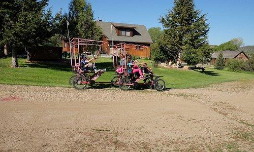 Family quadricycle bikes in Nevada City, Montana