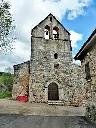 Iglesia estilo románico (siglo XII) de Almiruete. Guadalajara.