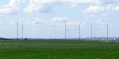 Вид на антенный комплекс со стороны деревни Ройка