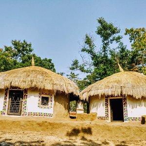 casas de tribos da região