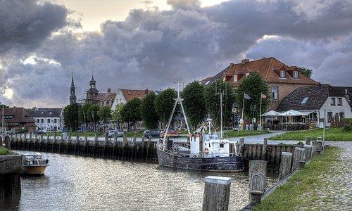 Aussicht auf das Hotel und den alten Hafen