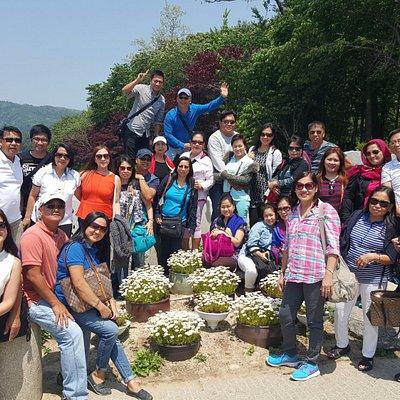 Filipino group package tour at Nami Island