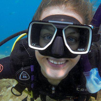 beautiful scuba smile