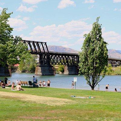 Red Bridge by Pioneer Park beach