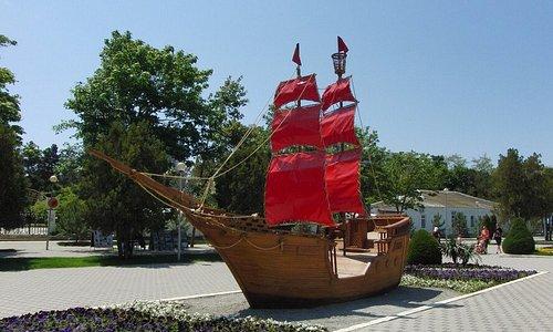 Кораблик Алые паруса в Анапе