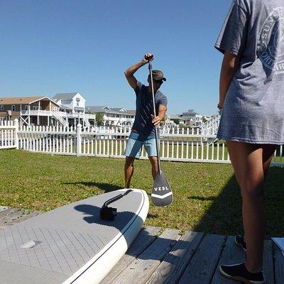 Proper paddle technique