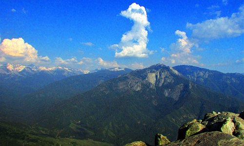 View looking east by southeast from the summit of Moro Rock.