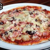 Pizzeta de jamón, mozzarela y arandanos...deli