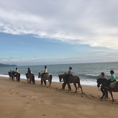 Horse riding on the beach and during sunset..... bliss!