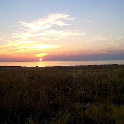 tramonto ai piedi del monte Cofano