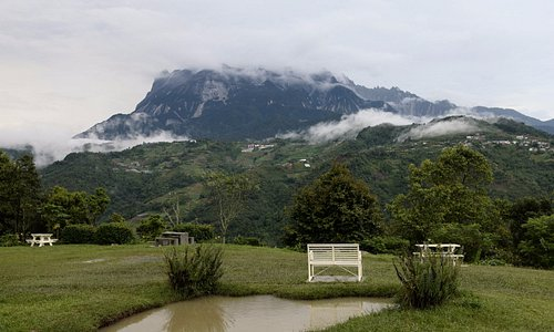 View of Mt. Kinabalu in the evening