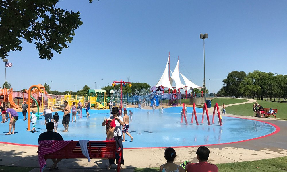 Splash pad at the park. Lots of fun for the kids!