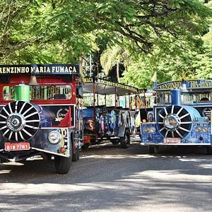 Tradiconal Trenzinho Turístico Urbano Maria Fumaça e Tia Linda