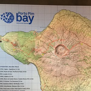 Map of walks on Faial