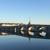 L'eau de la Loire est certaine fois tellement calme que çà fait des jeux de symétrie impressionn