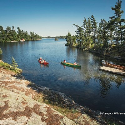 Panoramic View of Voyageur Island - border of Quetico