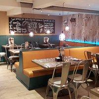 Inside Restaurant - clean and modern